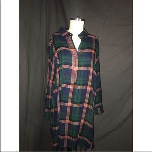 Collared Flannel Tunic